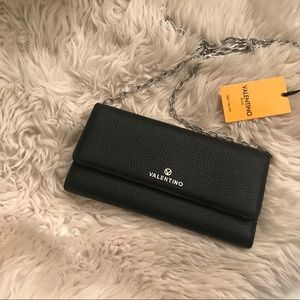 Black Valentino wallet on a chain